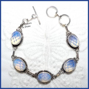 Bracelet en OPALITE et ARGENT