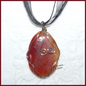 Pendentif en AGATE DRAGON orange
