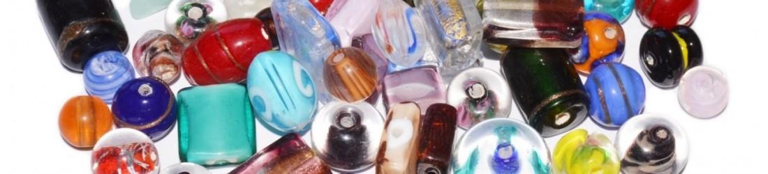 Boucles d'oreilles en verre Murano, murine LES TRESORS DE DIANE