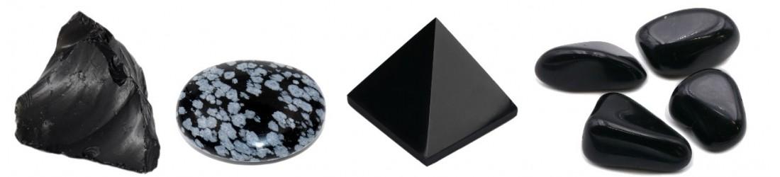 Bijoux parures en obsidienne pierres fines colliers boucles d'oreilles discount pas-cher