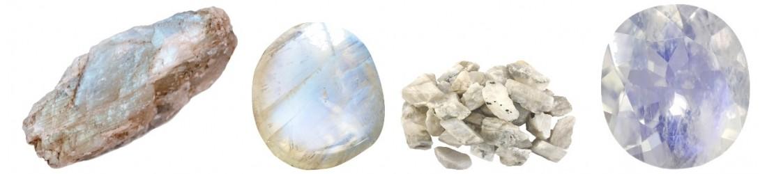 Bijoux colliers pendentifs en pierre de lune pas-cher discount