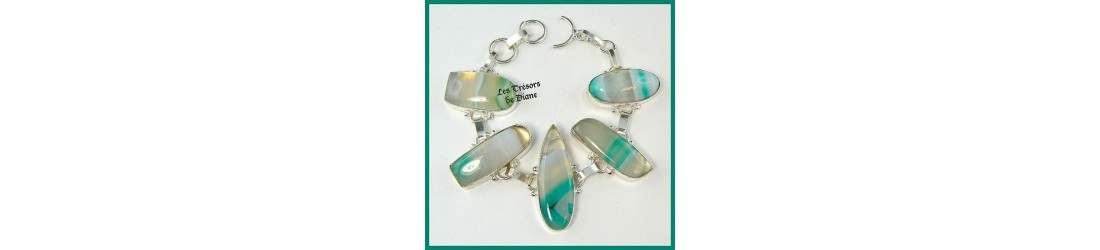 Bijoux bracelets prestige pierres fine argent discount pas cher
