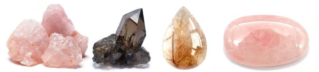 Bijoux boucles d'oreilles LES TRESORS DE DIANE en quartz naturel