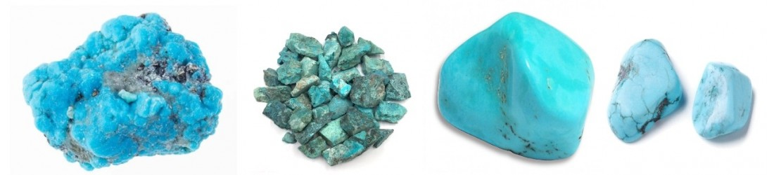 Bijoux boucles d'oreilles LES TRESORS DE DIANE en turquoise naturelle